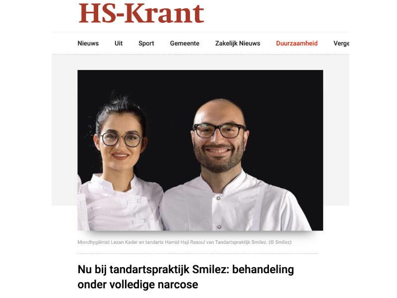 Tandartspraktijk Smilez HS Krant
