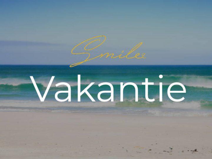 Vakantie: praktijk gesloten van 26 juli t/m 15 augustus